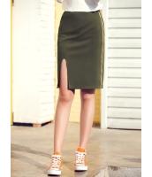ガーベラレディース 韓国風 ファッション コーデアイテム スリット入り タイトスカート ひざ丈スカート mb12290-1