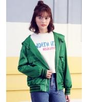 ガーベラレディース 韓国風 フード付き ダブルポケット ジップアップ スタジャン パーカー mb12291-1