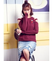 ガーベラレディース 韓国風 ファッション 丸首 プルオーバー 長袖 セーター mb12292-1