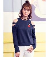 ガーベラレディース 韓国風 ファッション 丸首 プルオーバー 長袖 セーター mb12292-2
