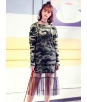 ガーベラレディース 韓国風 ファッション 2点セット ミニワンピース + メッシュキャミソールワンピース mb12297-1
