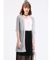 ガーベラレディース 韓国風 ファッション コーデアイテム 八分丈袖 ストレート ニットウェア カーディガン mb12301-3