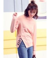 ガーベラレディース 韓国風 ファッション シンプル おおらか タートルネック ドロップショルダー 長袖 スウェット mb12319-1