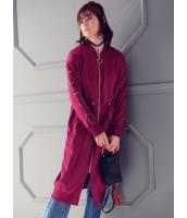 ガーベラレディース 韓国風 ファッション ロング丈 ジップアップ コーディガン mb12325-1