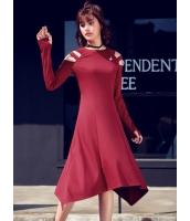 ガーベラレディース 韓国風 ファッション 非対称裾 ロングワンピース マキシワンピース mb12328-1