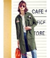 ガーベラレディース 韓国風 ファッション 側面スリット ロング丈 コクーンコート mb12329-1