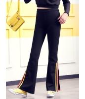 ガーベラレディース 韓国風 ファッション シンプル おおらか スウェットパンツ ブーツカットパンツ ベルボトム mb12330-1