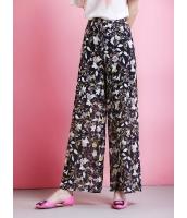 ガーベラレディース ワイドパンツ  ファッション 柔らか 花柄 ゆったり mb12423-1