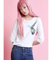 ガーベラレディース Tシャツ・カットソー  リラックス 丸首 mb12430-2