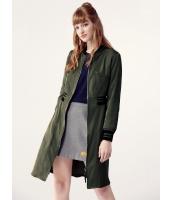 ガーベラレディース ミディアムコート  ファッション スタンドカラー ファスナー Aライン mb12454-1