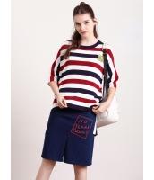 ガーベラレディース セーター  韓国風 学生風 ハイロー 七分丈袖 丸首 ニットウェア mb12483-1