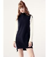 ガーベラレディース セーター 袖なし  韓国風 ファッション 柔らか 袖なし ハイロー タートルネック ニットウェア mb12486-2