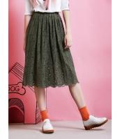 ガーベラレディース フレアスカート 膝丈スカート  韓国風 ファッション コーデアイテム 立体花柄 レース 裾 まつ毛レース mb12495-1