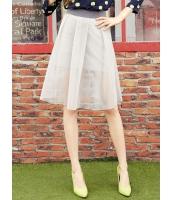 ガーベラレディース フレアスカート 膝丈スカート  韓国風 ファッション スポーティ Aライン裾 コーデアイテム mb12509-2