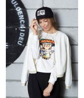 ガーベラレディース スタジャン ノーカラージャケット  韓国風 スポーティ ファッション 長袖 mb12521-2