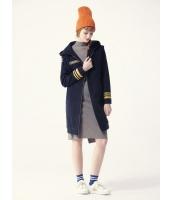 ガーベラレディース ジップアップパーカー 長袖  韓国風 ファッション おおらか 長袖 ウール mb12553-1