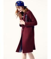 ガーベラレディース フリースコート ロングコート  韓国風 ファッション 文字入り ウール mb12559-2