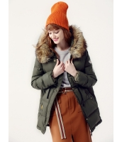 ガーベラレディース ダウンジャケット  韓国風 ファッション おおらか ファー襟 紐調節 あったかい mb12560-1