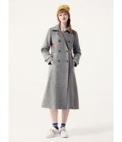ガーベラレディース フリースコート ロングコート  韓国風 ファッション ダブルボタン シンプル ウール Aライン mb12563-2