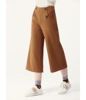 ガーベラレディース ワイドパンツ  韓国風 ファッション シンプル 学生風 レトロ ウール コーデアイテム 八分丈 mb12580-1