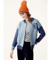 ガーベラレディース スタジャ ンスタンドカラージャケット  韓国風 ファッション リラックス 柔らか 文字入り セーター mb12590-1