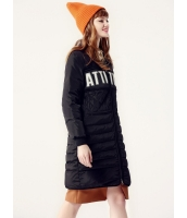 ガーベラレディース ダウンコート ミディアムコート  韓国風 ファッション シンプル おおらか 文字入り あったかい mb12601-1