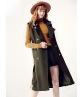 ガーベラレディース フリースコート ミディアムコート  韓国風 ファッション おおらか コーデアイテム ダブルボタン ウール ウエストバンド特典付き mb12602-1