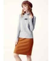 ガーベラレディース Tシャツ・カットソー 長袖  韓国風 ファッション シンプル タートルネック mb12605-3
