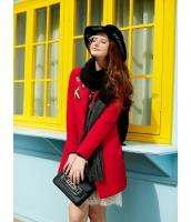 ガーベラレディース フリースコート ミディアムコート  韓国風 ファッション シンプル ファッション ウール 長袖 mb12624-2