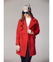 ガーベラレディース ミディアムコート  韓国風 ファッション ダブルボタン mb12639-3