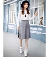 ガーベラレディース フレアスカート 膝丈スカート  韓国風 Aライン裾 ウール ウール mb12652-1