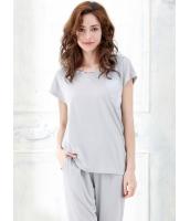 パジャマ ルームウェア ナイトトウェア 綿質 半袖 上下セット mb13186-1