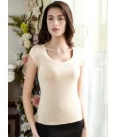 プレミアムガーベラ・レディースインナー・下着 シームレス 肌に優しい綿質 半袖Tシャツ アンダーウエア mb13371-1