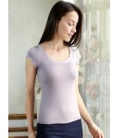 プレミアムガーベラ・レディースインナー・下着 シームレス 肌に優しい綿質 半袖Tシャツ アンダーウエア mb13371-2