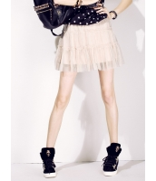 プリーツスカート ミニスカート 可愛い メッシュ mb14003-1