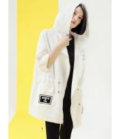 ウインドブレーカー ミディアムコート 韓国風 個性派 ゆったり フード付き ジップアップ 七分丈袖 mb14045-1
