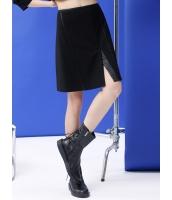 フレアスカート 膝丈スカート 欧米風 Aライン スリット入り mb14046-1