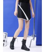 タイトスカート ミニスカート 欧米風 非対称 モノトーン PUレザー mb14053-1