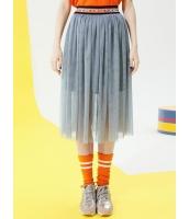 プリーツスカート 膝丈スカート 個性派 ゴムウエスト コーデアイテム mb14072-2