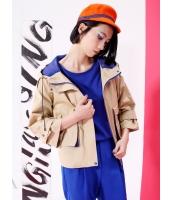 ジャンパー・ブルゾン ステンカラー 欧米風 ゆったり カジュアル 長袖 mb14080-1