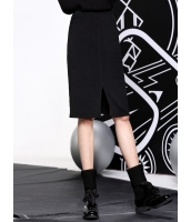 ペンシルスカート 膝丈スカート 欧米風 おおらか シンプル スリット mb14105-1
