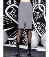 ペンシルスカート 膝丈スカート 欧米風 おおらか シンプル スリット mb14105-2