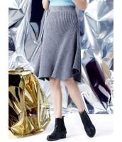 フレアスカート 膝丈スカート 欧米風 ストリートファッション Aライン裾 ニット mb14133-2