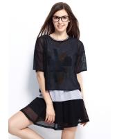 ガーベラレディース Tシャツ カットソー 半袖 シンプル 重ね着風 mb14254-1