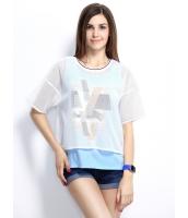 ガーベラレディース Tシャツ カットソー 半袖 シンプル 重ね着風 mb14254-2