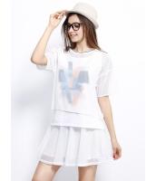 ガーベラレディース Tシャツ カットソー 半袖 シンプル 重ね着風 mb14254-3