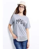 ガーベラレディース Tシャツ カットソー 半袖 シンプル ドロップショルダー mb14255-1