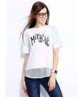 ガーベラレディース Tシャツ カットソー 半袖 シンプル ドロップショルダー mb14255-3