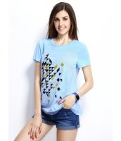 ガーベラレディース Tシャツ カットソー 半袖 シンプル ベーシック デジタルプリント mb14257-1