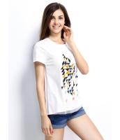 ガーベラレディース Tシャツ カットソー 半袖 シンプル ベーシック デジタルプリント mb14257-2